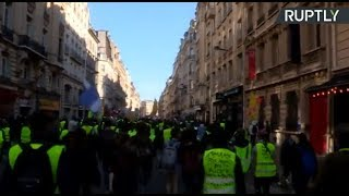 LIVE: Yellow Vest protesters march for 15th consecutive weekend