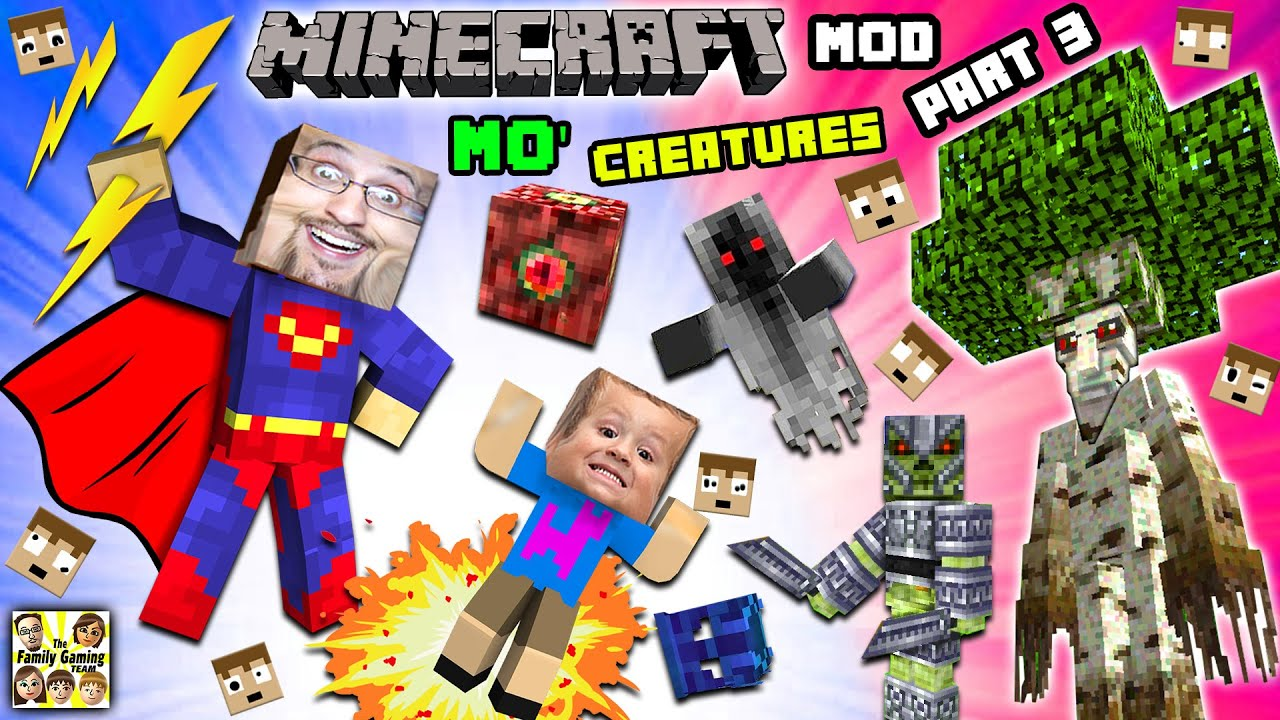Download EVIL CHASE ATTACKS! MO' CREATURES MOD Showcase #3: ISLAND of FORBIDDYNESS Bye Bye (FGTEEV Minecraft)