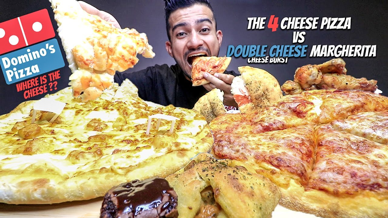 Download The 4 Cheese Pizza vs My Favorite Double Cheese Margherita Cheese Burst MUKBANG | Battle Of The Best
