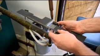 spot welding the vg1 5 receiver together