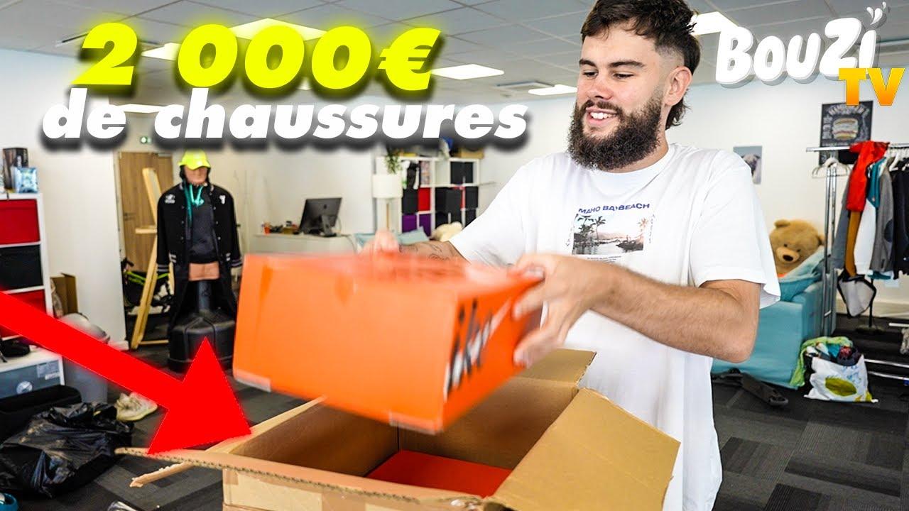 J'OUVRE POUR 2000 EUROS DE CHAUSSURES !