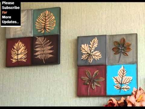Collection Of Metal Wall Decor Leaves | Metal Tree,Leaf Wall Art Ideas    YouTube