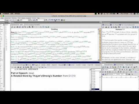 How To Use E Sword - The Basics - Bible Software Tutorial