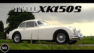 JAGUAR XK 150 S 3.4 Fixed Head Coupe FHC 1959 - Test drive in top gear - Engine sound | SCC TV