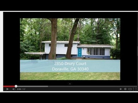 atlanta homes for sale mid century modern gem youtube