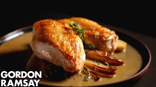 Chicken Breast And Sautéed Chicory In Marsala Sauce - Gordon Ramsay