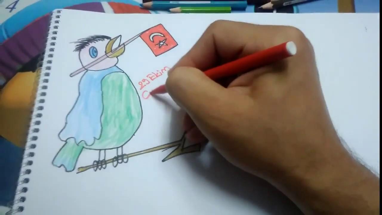 29 Ekim Cumhuriyet Bayrami Icin Ciziyoruz Drawing Pictures For