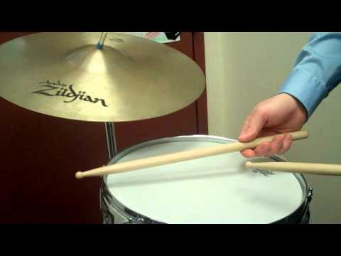how to play a basic rock beat on snare drum and cymbal youtube. Black Bedroom Furniture Sets. Home Design Ideas