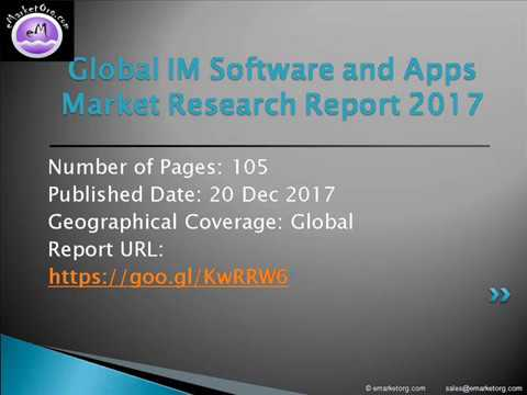 Global IM Software and Apps - Demand and Sales Forecasts, Market Share and Market Size