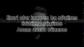 Mustafa Ceceli - Emri Olur Karaoke (Lyric Video)