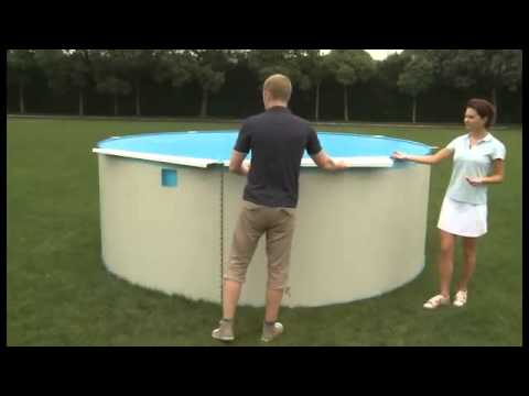 Bestway above ground round swimming pool youtube - Above ground swimming pool removal ...
