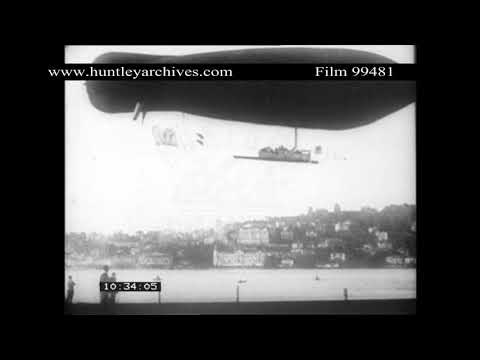 1900's Dirigible of Clement-Bayard in France.  Archive film 99481