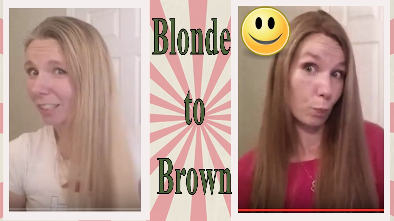 Going From Blonde To Vs 6 3 Light Gold Brown Home Hair Dye Diy Youtube