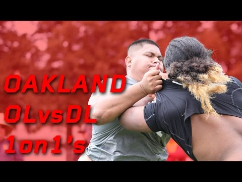 Oakland OL vs DL 1 on 1's | Nike Football's The Opening Regionals