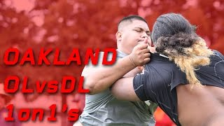 Oakland OL vs DL 1 on 1