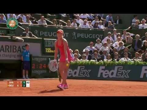 Maria Sharapova vs Eugenie Bouchard 2014 Roland Garros Highlights