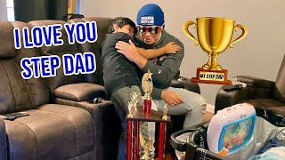 Surprising My Step DAD With The Best Gift EVER! Emotional
