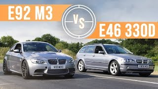 Can A BMW E46 330d Keep Up With An E92 M3 On Track?