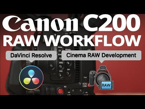 Canon C200 RAW WORKFLOW 💻