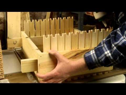 Assembling frames from Mann Lake for a Langstroth deep honeybee hive