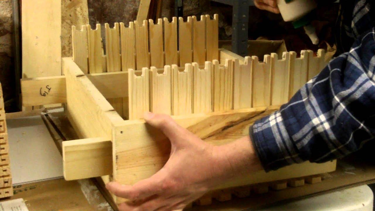 Assembling frames from Mann Lake for a Langstroth deep honeybee hive ...