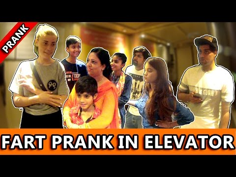 FART PRANK IN ELEVATOR - TST - Pranks in India 2017