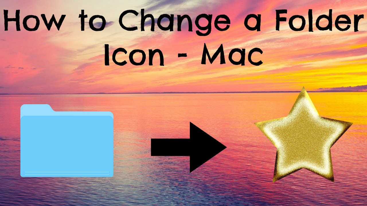 how to change a folder icon mac youtube. Black Bedroom Furniture Sets. Home Design Ideas