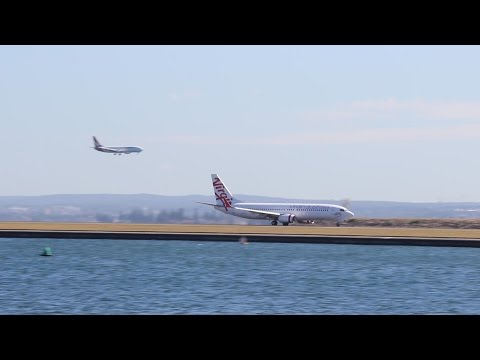 Plane Spotting at Sydney Airport, Medium Aircraft using Runway 34R