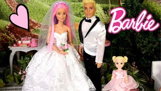 Barbie Doll Wedding Story - Christmas Day With Baby Goldie's Family