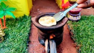 Miniature Aloo paratha  Barbie in india  Miniature cooking Aloo Paratha recipe