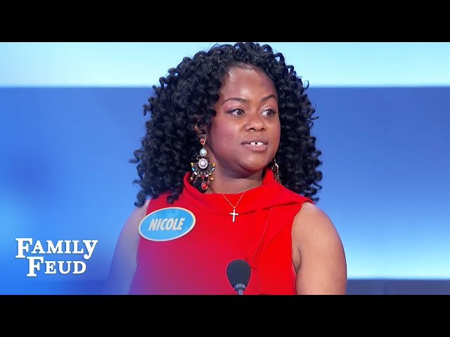 Here's what husbands and wives fight for control of! | Family Feud