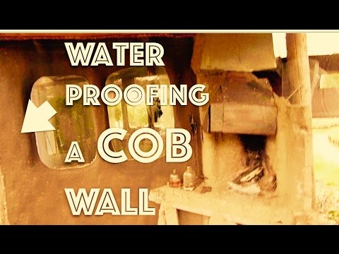 WATERPROOFING a COB wall 🏰 (earthen plaster) with linseed oil