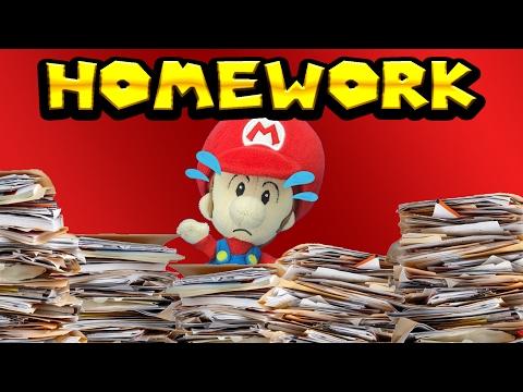 Baby Mario's Homework