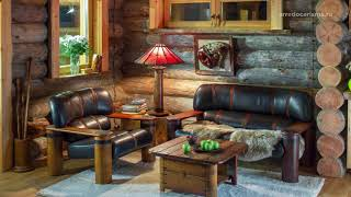 Восхитительная гармония - дизайнерские идеи в доме (бане) из сосны кело с австралийской мебелью