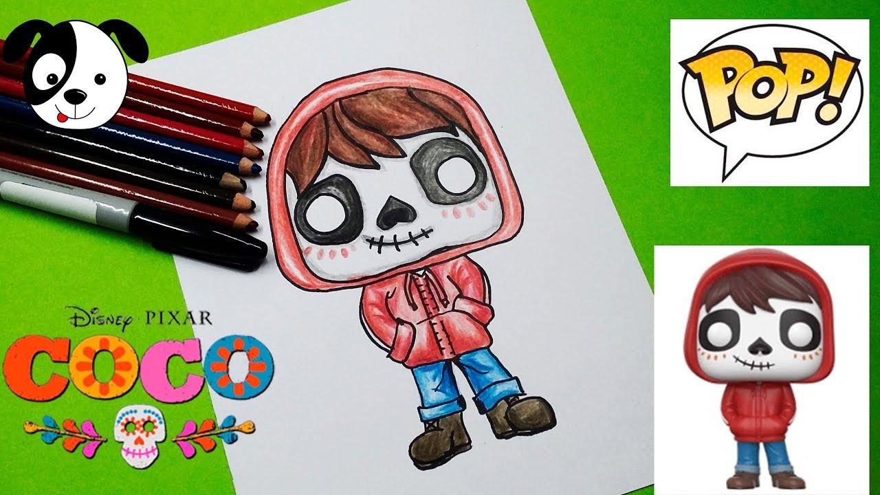 Coco Disney Como Colorear A Miguel Kawaii Dibujos Para Ninos How To