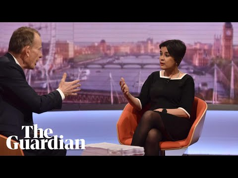 'Don't try and patronise me': Andrew Marr clashes with Labour's Shami Chakrabarti