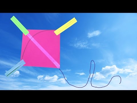 How to Make a Easy Paper Kite for Kids (very easy) : DIY Crafts - HD