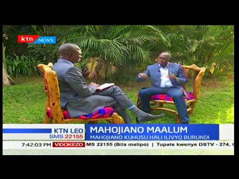 KTN Leo - 15th January 2017 - Mahojiano Maalum na Naibu Rais wa Burundi- Gaston Sindimwo
