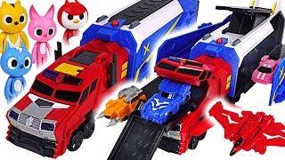 Miniforce X Commando X Carrier 3 mode transform! Defeat the dinosaur and villain! #DuDuPopTOY