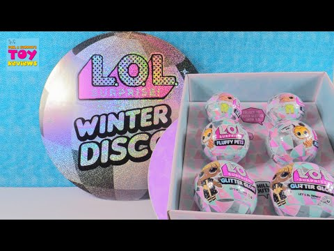 LOL Surprise Winter Disco Glitter Globe Fluffy Pets Lils Unboxing Review | PSToyReviews
