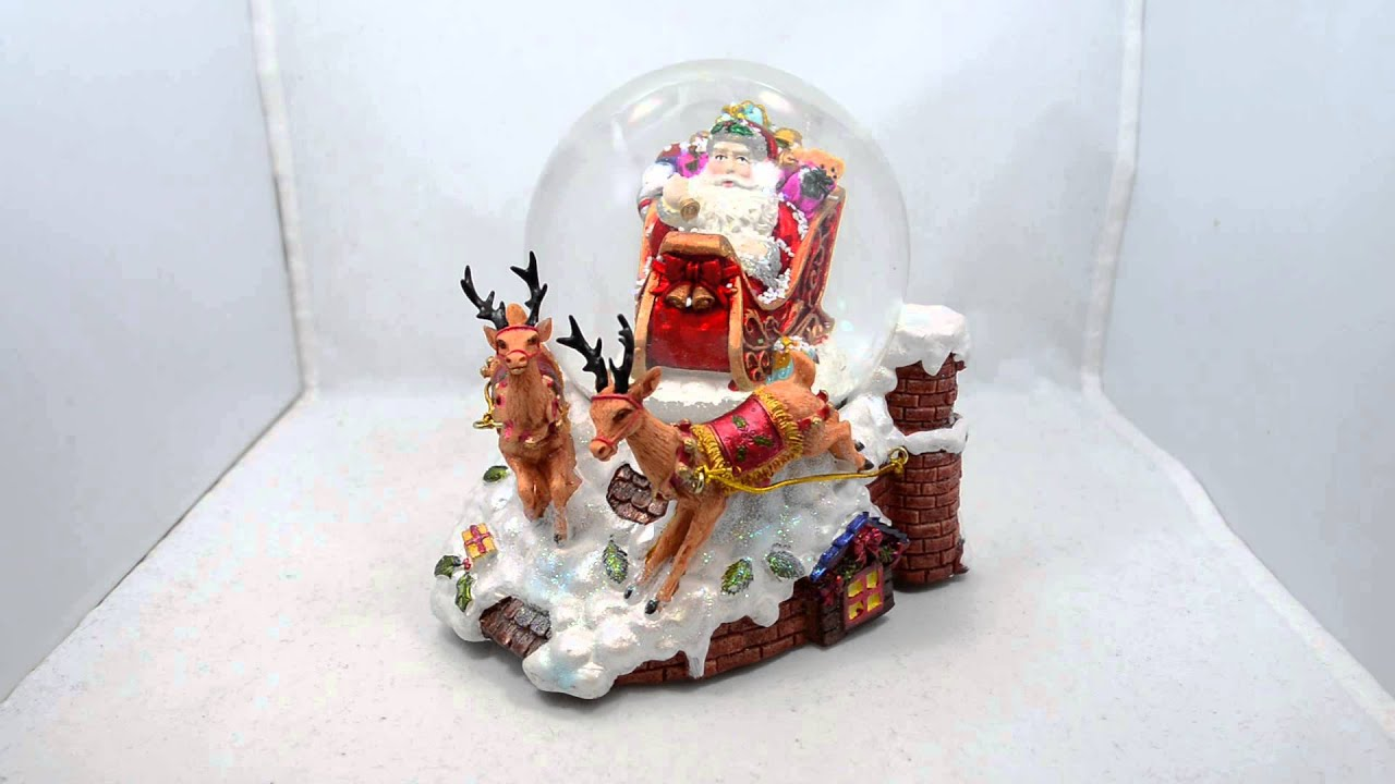 """5.5"""" Santa Sleigh and Reindeers Deliver Christmas Gifts ..."""