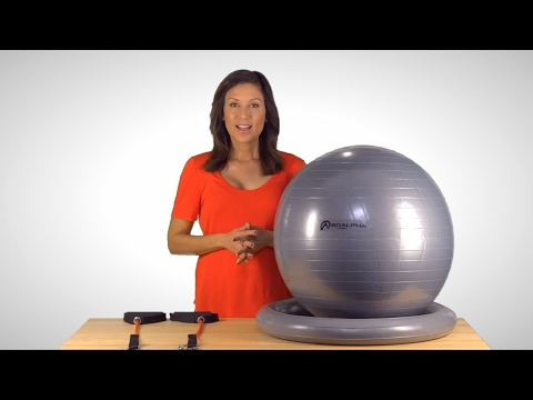 Best Exercise Ball with Resistance Bands - SoAlpha.com