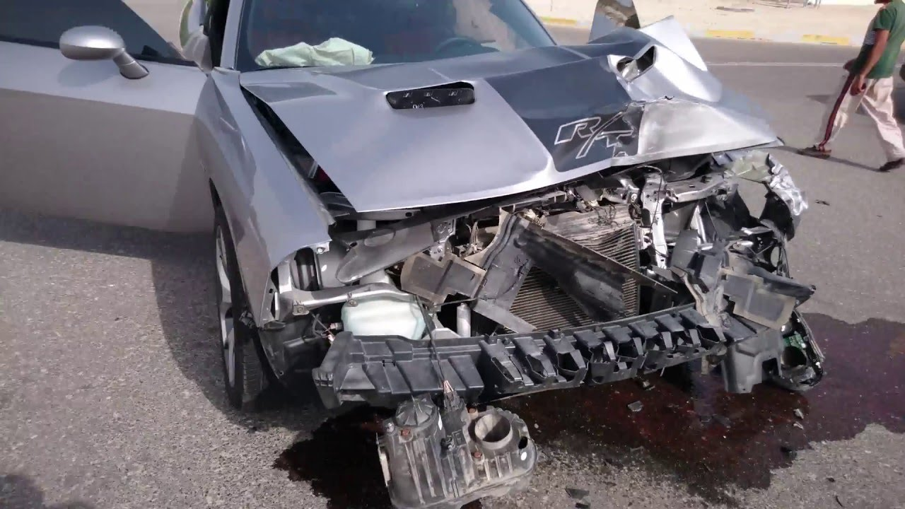 Dodge Challenger Accident Youtube