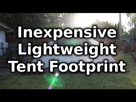 DIY Inexpensive and Lightweight Tent Footprint & DIY Inexpensive and Lightweight Tent Footprint - YouTube