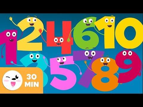 LOS NÚMEROS Del 1 Al 10 - Canciones De Los Números - Vídeo Educativo Para Aprender A Contar