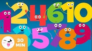 Letra de cancion de los numeros del 1 al 10