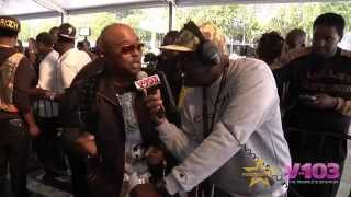 Alex Thomas On Red Carpet For BET Hip Hop Awards With V-103