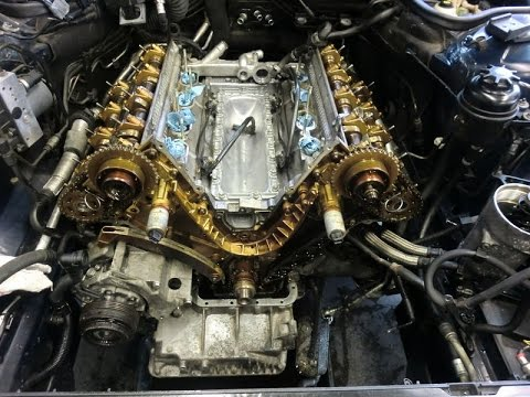 BMW E38 M62TU timing chain guides failure  YouTube