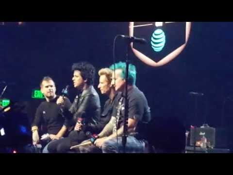 Green Day interview at iHeart Theater