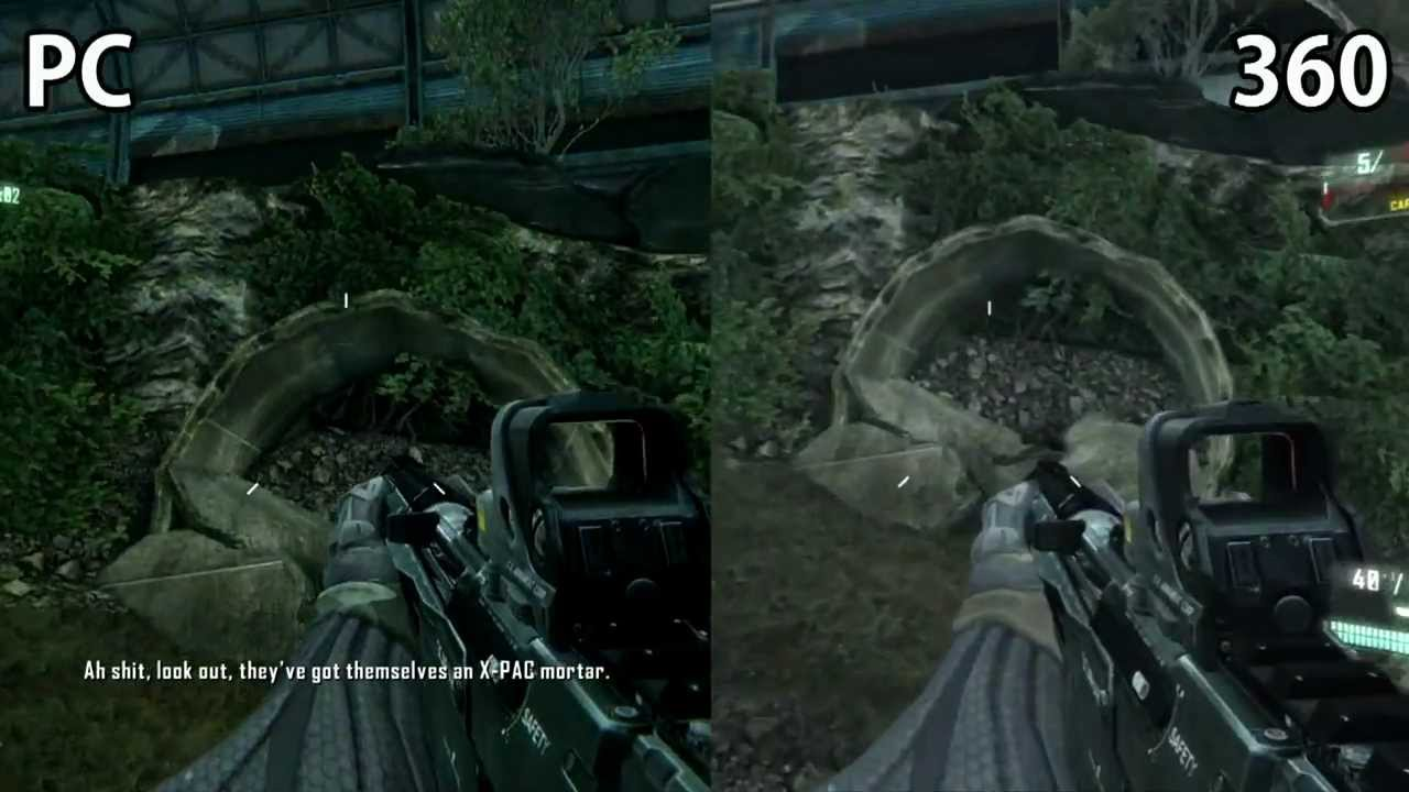 Crysis 3 graphics comparison pc maxed settings vs xbox 360 1080p - Crysis 3 Pc Vs Xbox360 Beta